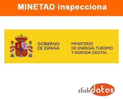 Inspección del Minetad sobre el cumplimiento de la LSSI