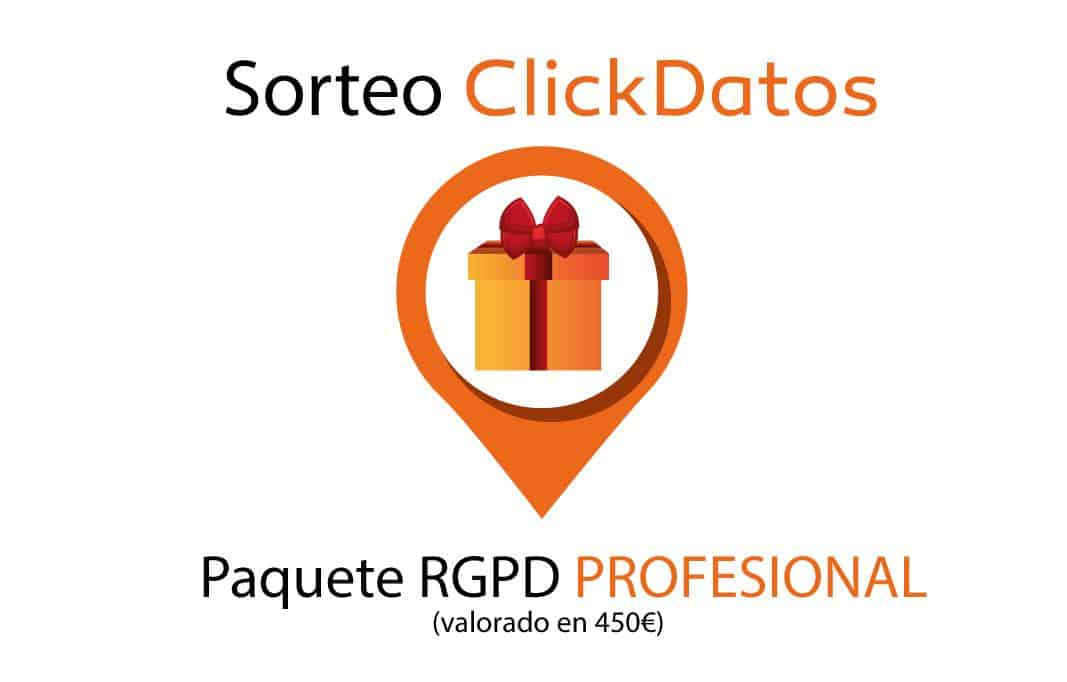 Sorteo paquete RGPD
