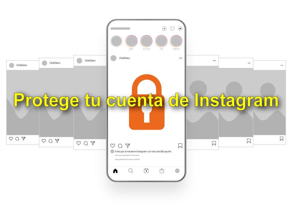 ClickDatos | Instagram | Autenticación en dos pasos