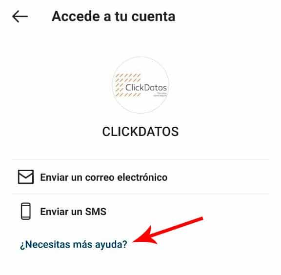 Cuenta Instagram hackeada - Necesitas más ayuda