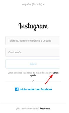 Iniciar sesión en Instagram - Obtén ayuda