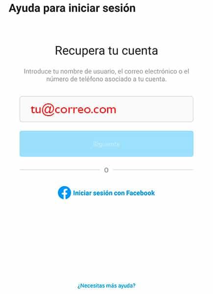 Cuenta hackeada instagram - Recuperar cuenta